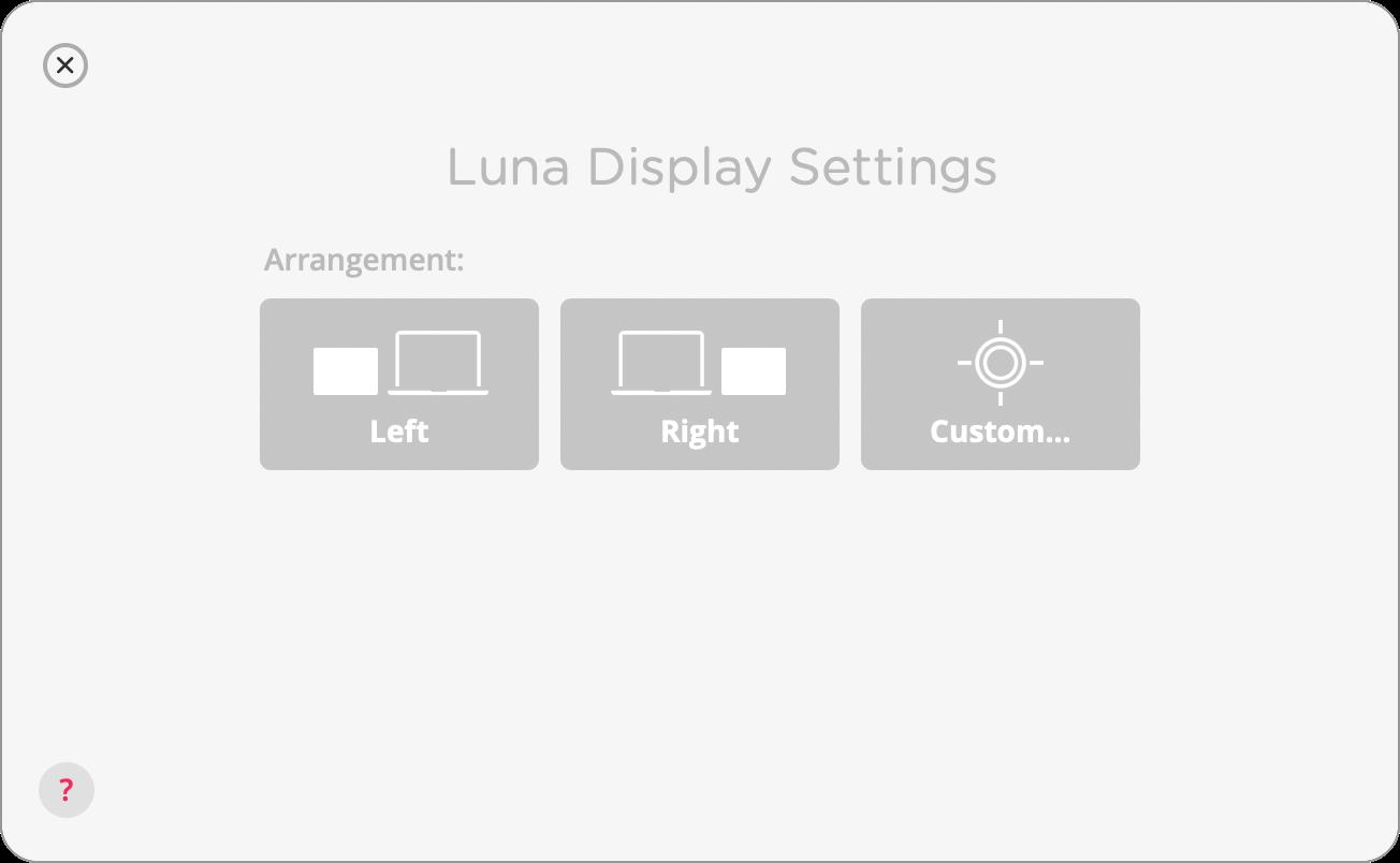 拡張したディスプレイの配置位置を選択する