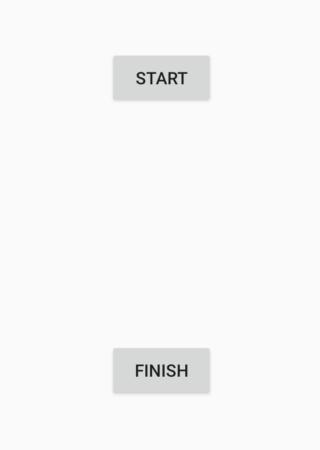 STARTボタンとFINISHボタンが表示されている