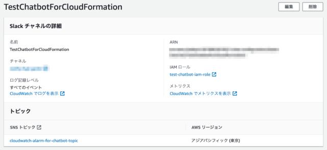 AWS Chatbotでチャンネル設定をおこなう