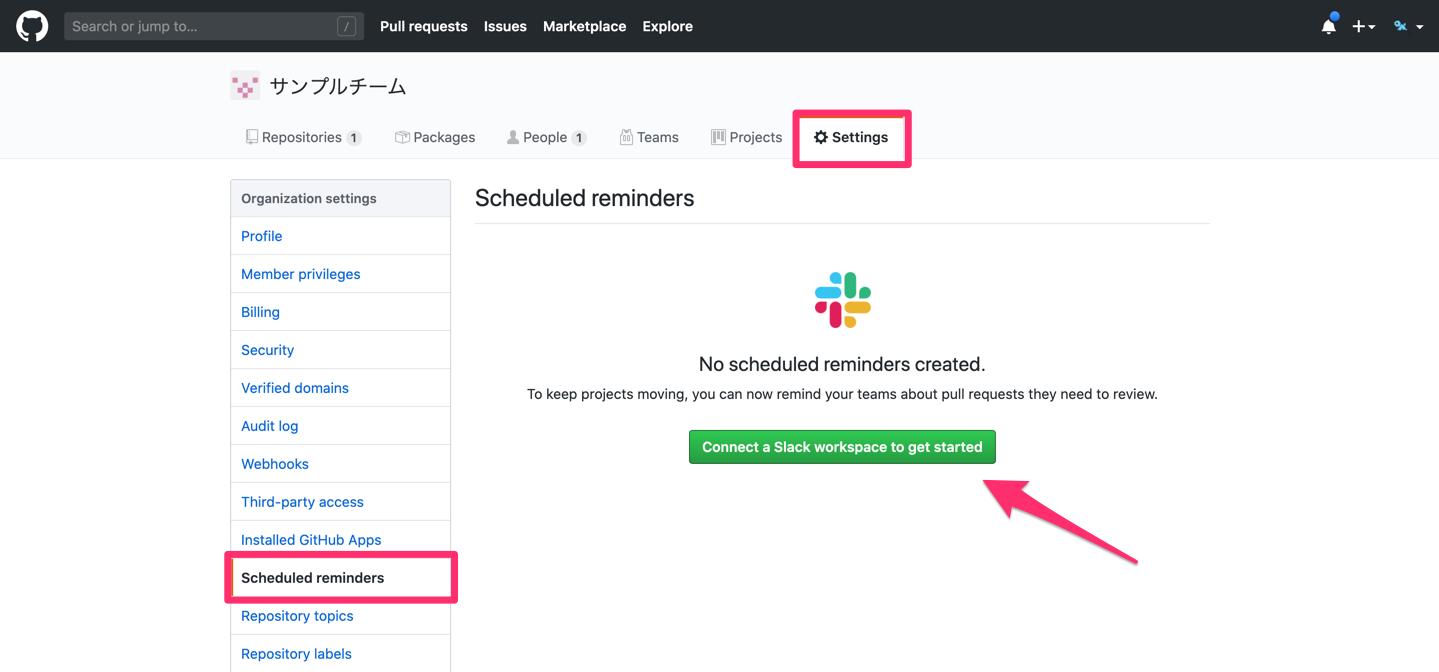 Scheduled remindersでGitHubとSlackを連携