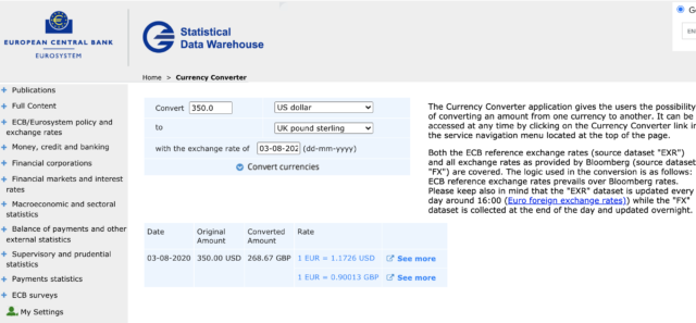 ECB Currency Converter