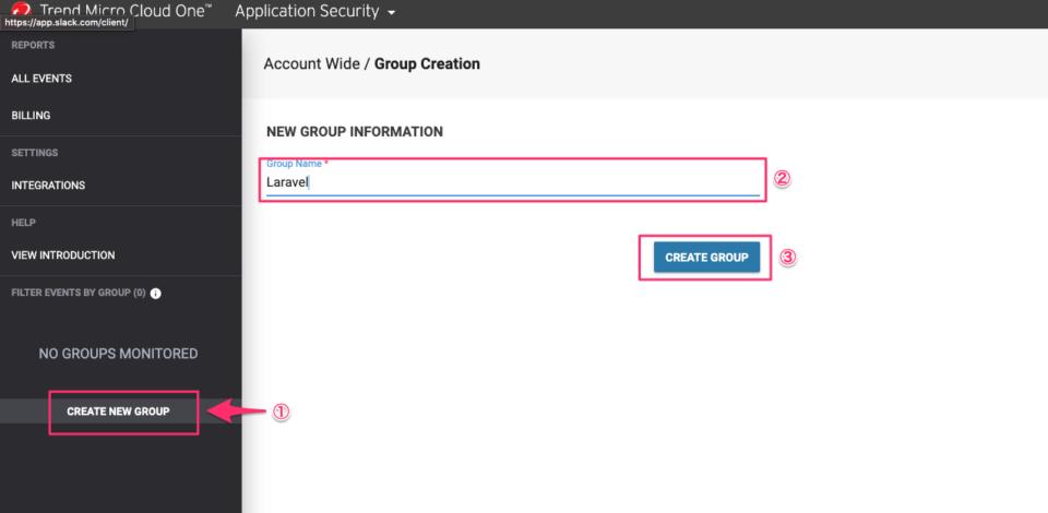 CloudOne グループ追加
