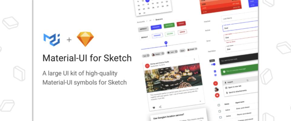 Material-UI for Sketch画像
