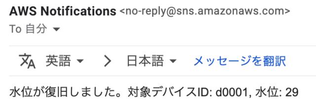 メールが来た