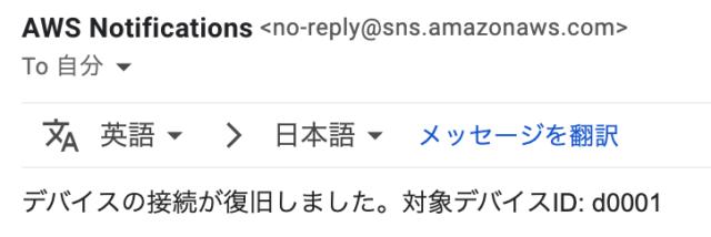 Online状態になったメールが来た