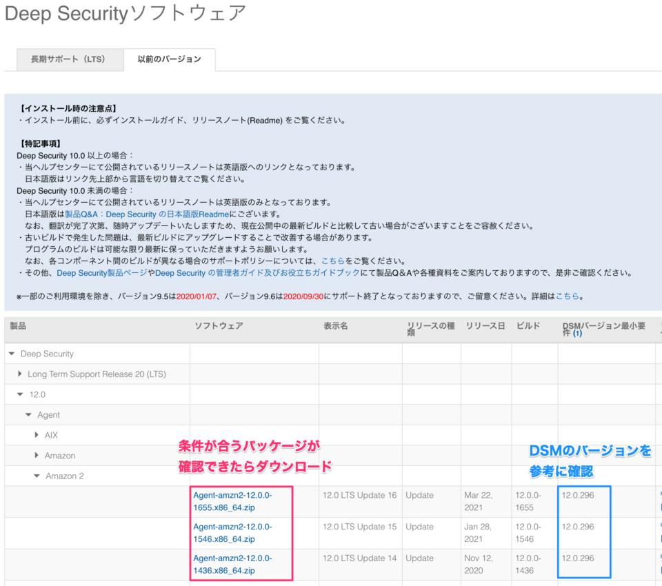 Deep Securityソフトウェアのダウンロード