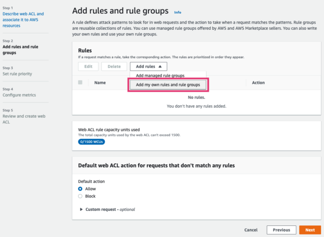 Add rules and rule group