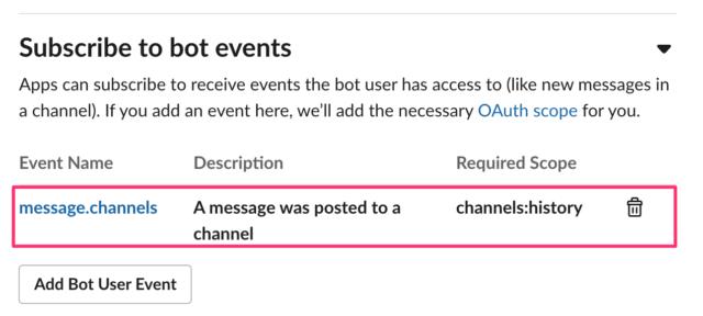 Event APIの設定(権限)
