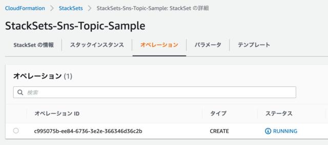 CloudFormation StackSets実行中