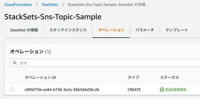 CloudFormation StackSets完了