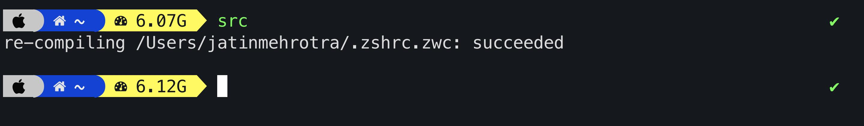 Zsh reload